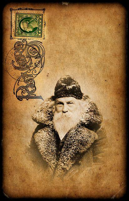 Vintage Santa Postcard with beautiful flourish cancellation mark... Flickr - Photo Sharing!
