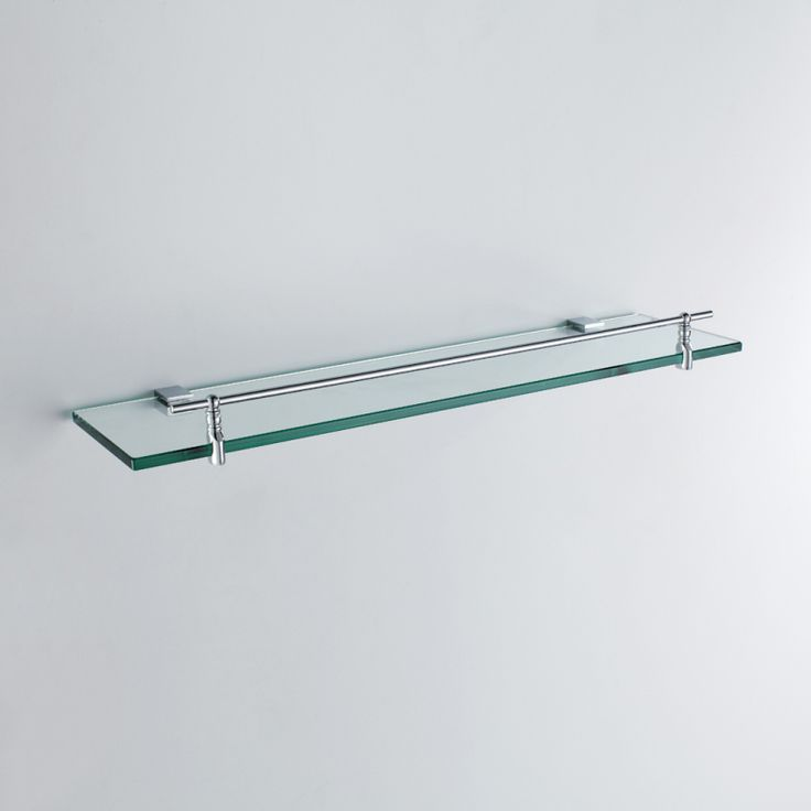 bathroom bath shelves modern chrome finish silver singlelayer bath shelf brass wall mounted glass shelf with rail
