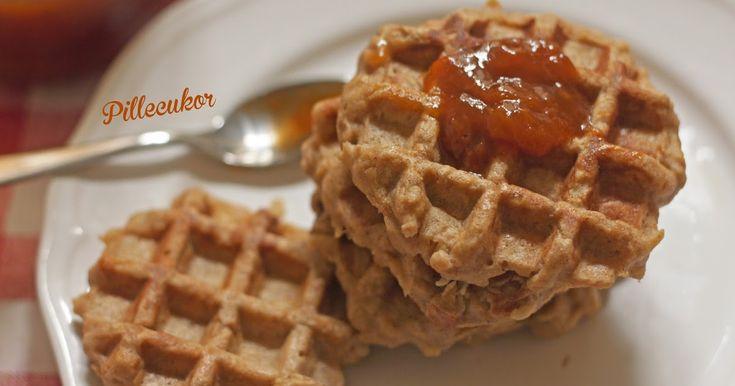 Pillecukor ♥: Almás gofri (glutén-. laktóz-, cukor és édesítő mentes)