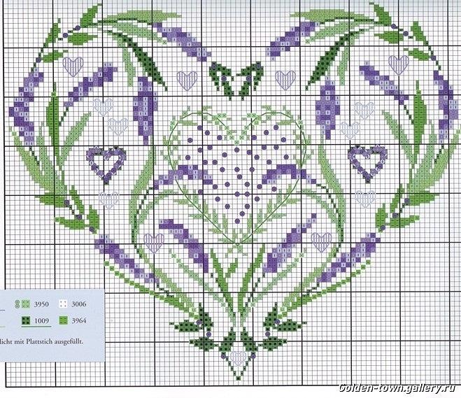 Gallery.ru / Фото #25 - И опять бискорню... - Yra3raza lavender lavande cross stitch point de croix