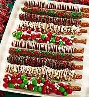 Festive Holiday Caramel Pretzels