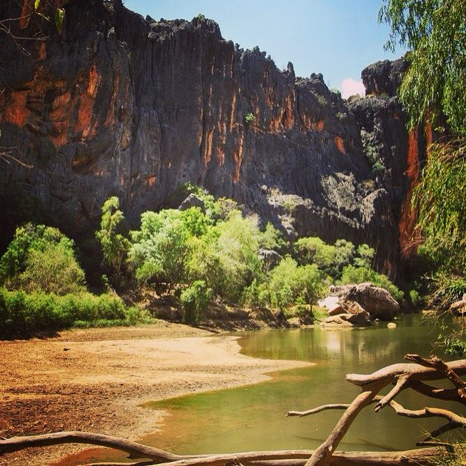 We only got to see a little part of the renowned Gibb River Road, but it was definitely worth it. Windjana Gorge came with just one adjective: HOT! #windjanagorge #gibbriverroad #thekimberleyaustralia #westernaustralia #roadtrip #thisiswa #offroad #australia #discoveraustralia #hot #wanderlust #travel #picoftheday #workandtravel