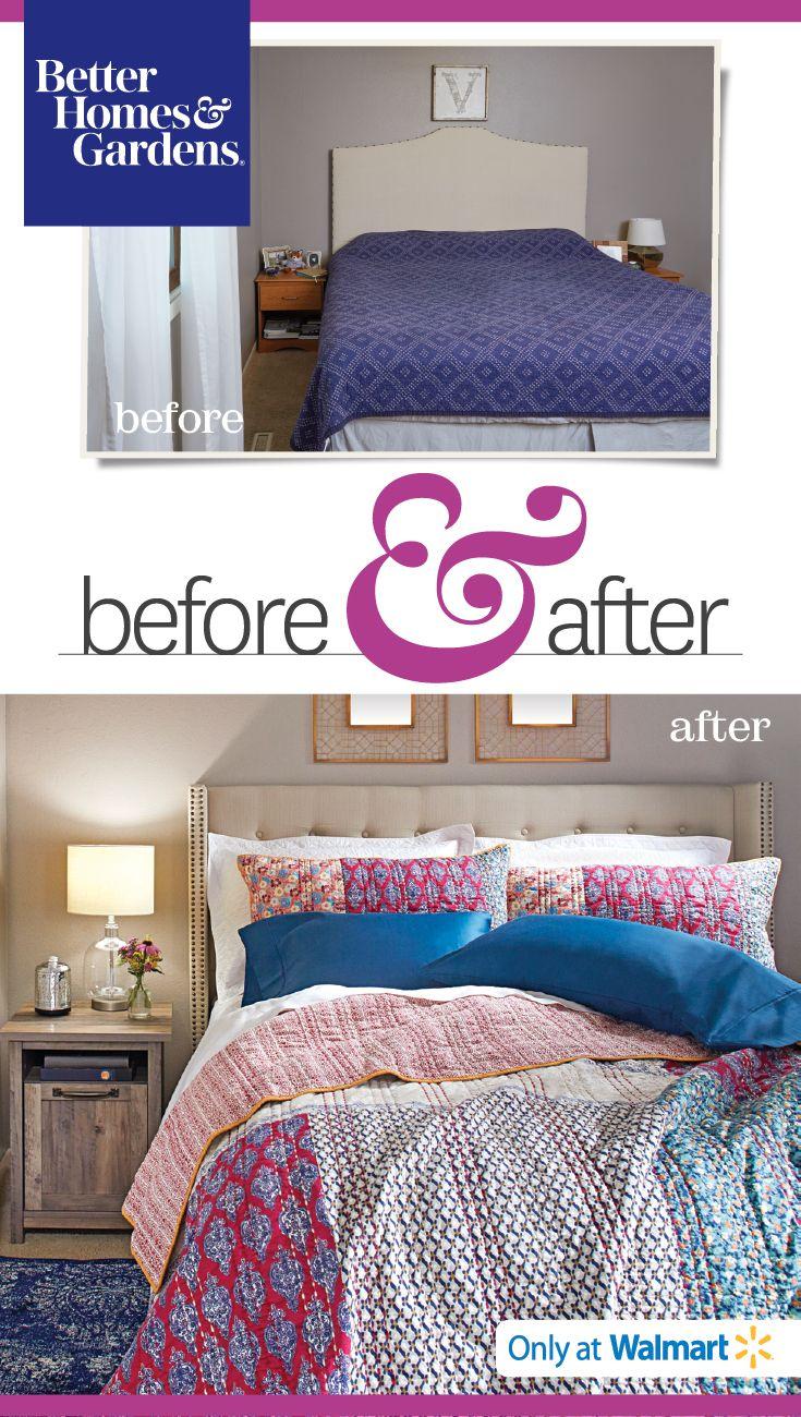 Better Homes & Gardens at Walmart Master Bedroom