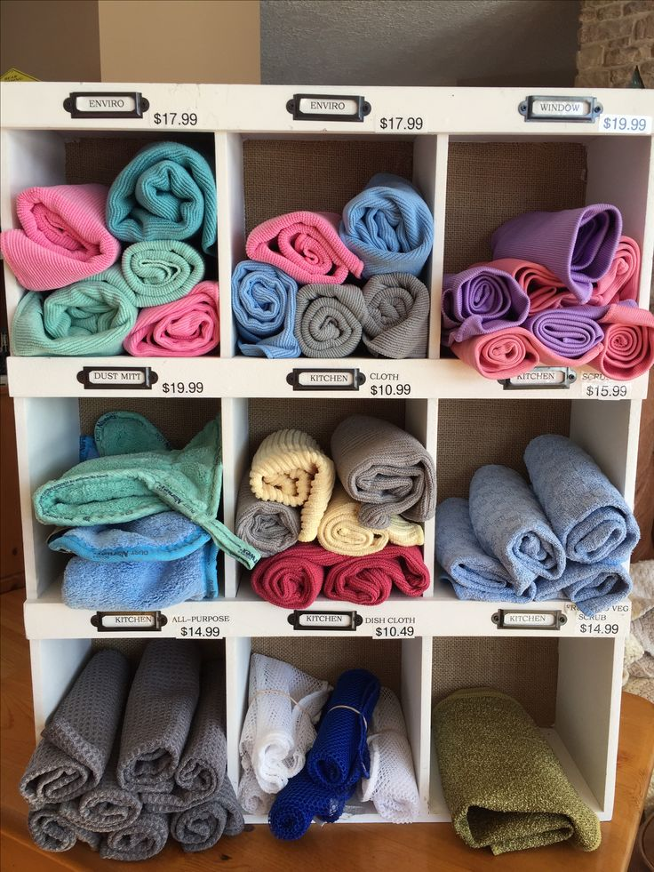 How I like to display my Norwex cloths! Lisa Maslyk Norwex Consultant