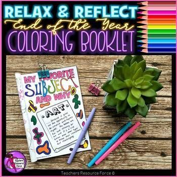 "The last few weeks after testing don't have to be all about crowd control and survival! It is possible to actually have a calm classroom, to enjoy the time with your class and reflect on the good times and what they learned - enter the ""Relax and Reflect"" End of Year Coloring Booklet!"