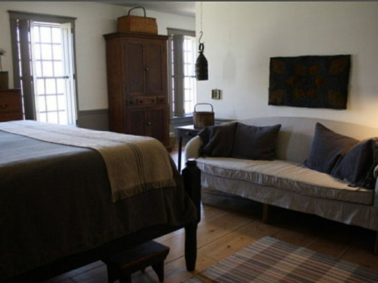 289 best images about primitive and colonial bedrooms on for Colonial bedroom ideas