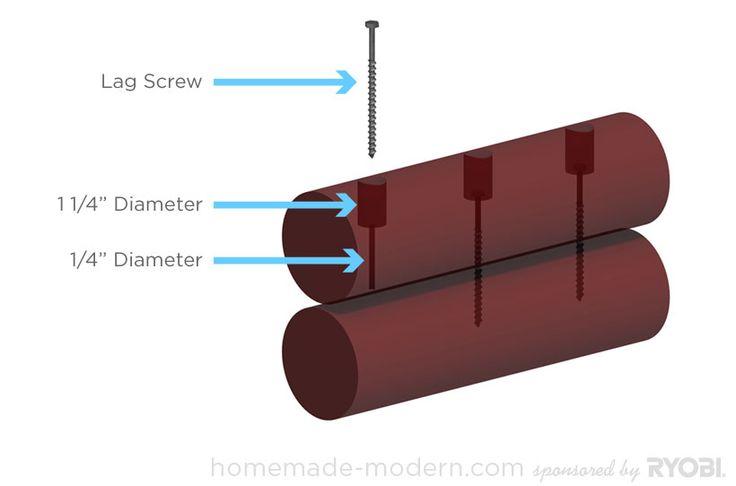 HomeMade Modern DIY EP14 Log Lounger Step 3