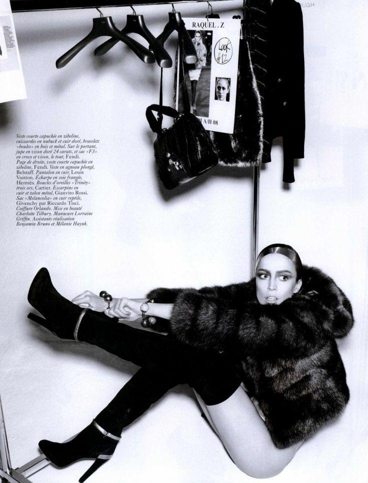 Vogue Paris Editorial August 2008 - Raquel Zimmermann by Mario Testino
