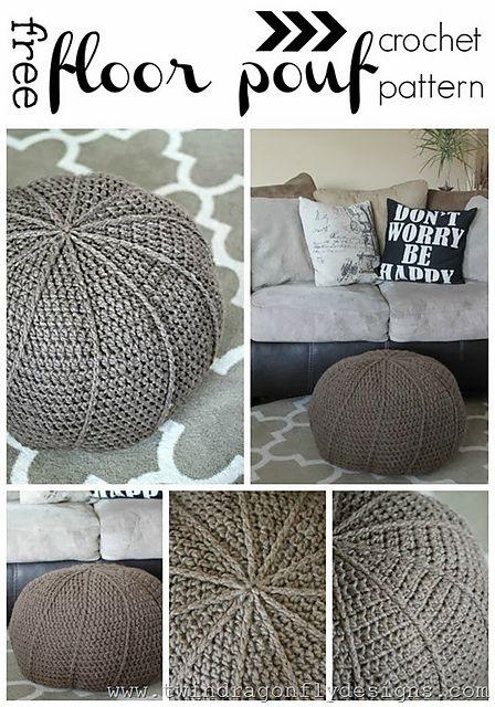 Ravelry: Crochet Floor Pouf Pattern pattern by Dragon Fly Designs