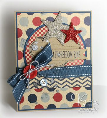 A marvelous 4th of July card from Jen Tapler Designs. #handmade #cards #scrapbooking
