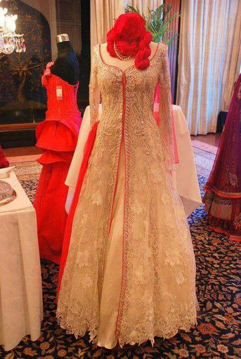 Golden pakistani gown