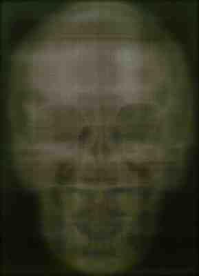 Alison Van Pelt, X-Ray Self Portrait Dark Green, oil paint on canvasOil On Canvas
