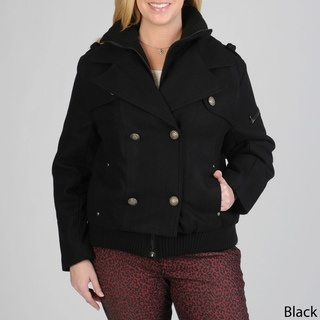 @Overstock - Double-breasted military styling lends interest to this black wool-blend plus size peacoat from Excelled. With a notch collar and large stylized buttons this coat is finished with multiple pockets and knit cuffs.http://www.overstock.com/Clothing-Shoes/Excelled-Womens-Plus-Size-Double-breasted-Wool-blend-Peacoat/6293914/product.html?CID=214117 RUB              3061.70