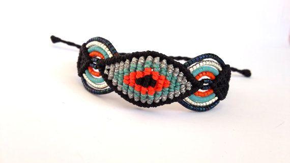 Macrame Bracelet Evil Eye Macrame Bracelet by MACRANI on Etsy