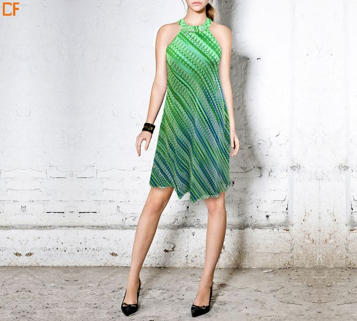 Look cool as a cucumber this summer. #minidress #summerdress #fashion #onlinestore #onlinefashion  Visit us at http://www.droomfashion.com/