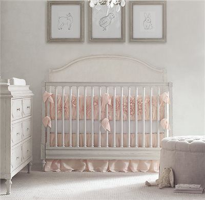 Model Of RH Baby & Child s Washed Appliquéd Fleur Crib Bumper A texture rich position of gathers and blooms created using ruching and appliqués on airy cotton Elegant - Awesome Best Baby Cribs Inspirational