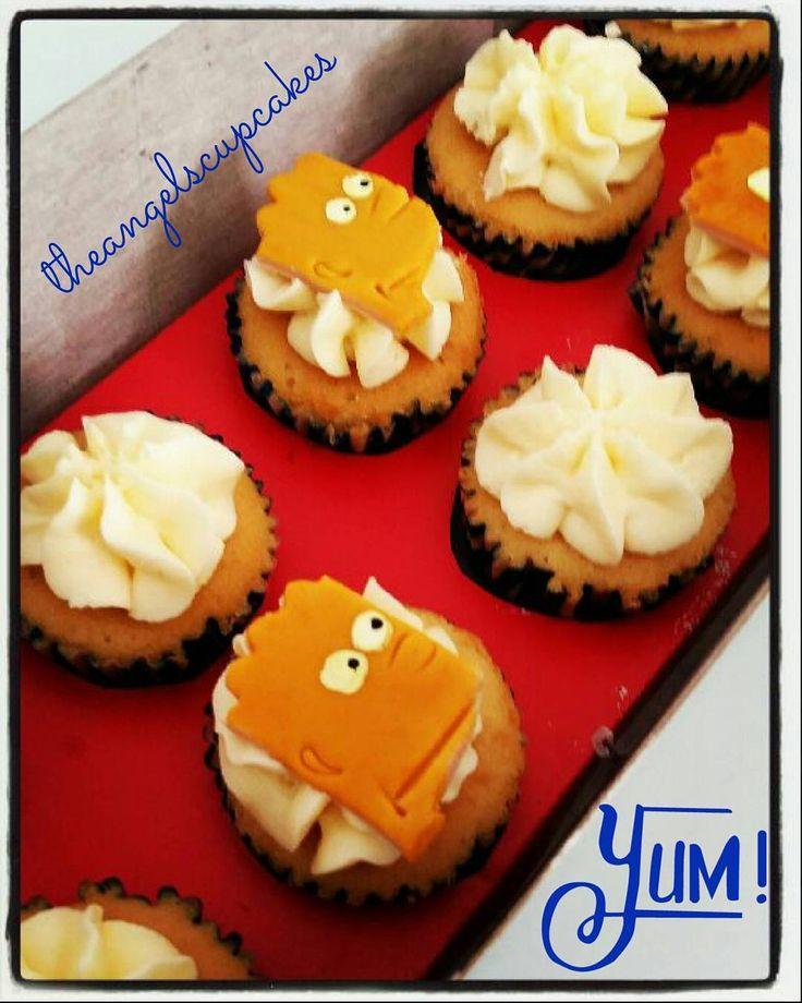 Bart Simpson Cupcakes  Para pedidos comunicate a theangelscupcakes@gmail.com  #angelscupcakes #theangelscupcakes #cupcake #dulces #postres #pastel #pasteleria #reposteriacreativa #reposteriaartistica #regalo #reposteria #regalosdeliciosos #bakery #patisserie #bart #simpsons #candybar #buttercream #vainilla #cremademantequilla