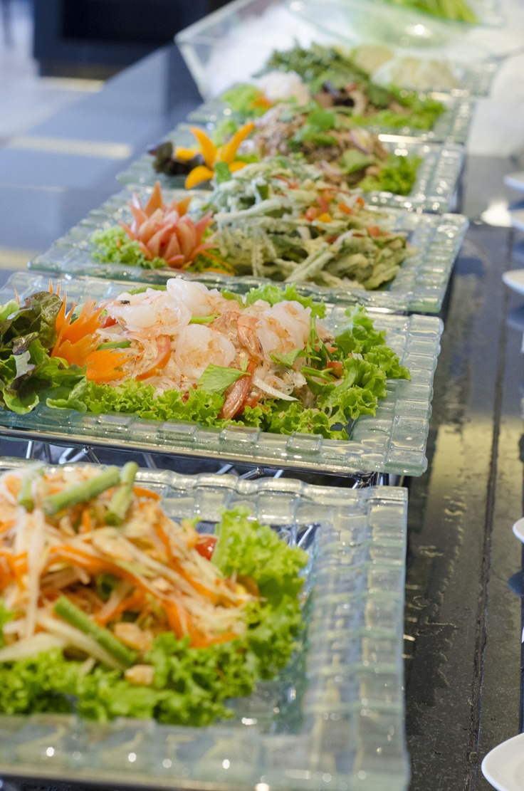 Thai appetizers on our buffet line