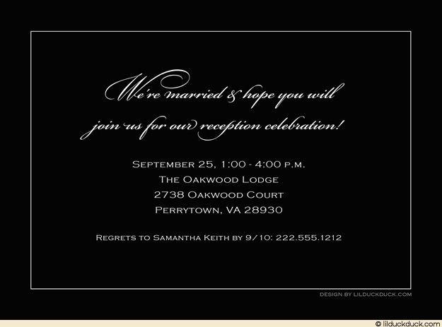 Wedding Text Message Invitation: Reception Invitation Wording