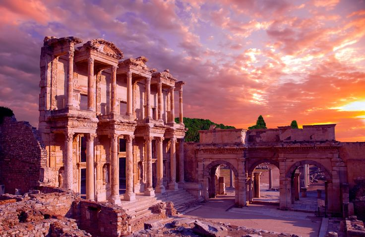library of Celsus at Ephesus night - Google Search