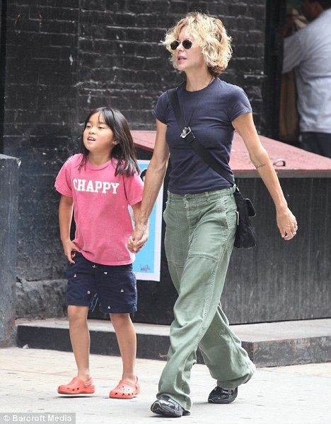 Meg Ryan was pictured in New York on Monday with her daughter Daisy True
