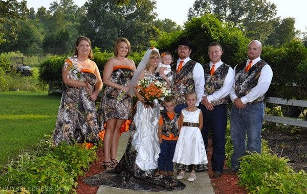 Camo Wedding Ideas for Redneck Weddings i like the groomsmen but i would change the pants to black jeans