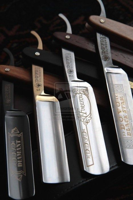 With the price of razor blades today you'ld be wise to get yourself one of these Dovo straight razors.  Check out our straight razors... http://www.osograndeknives.com/store/catalog/straight-razors-107-1.html