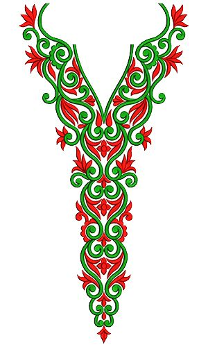 9727 Neck Embroidery Design