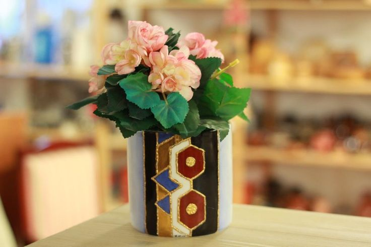 Blomkruka; Flower pot, vintage