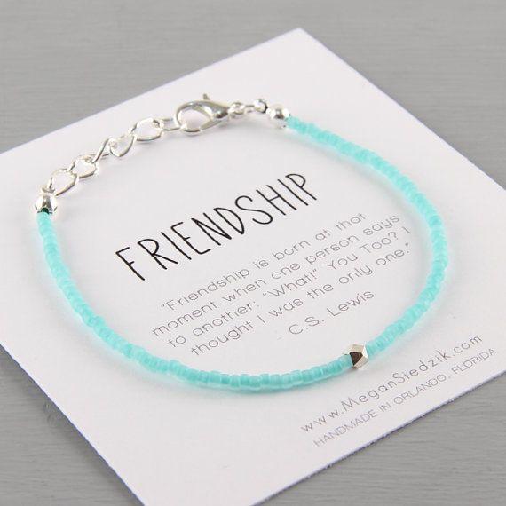 Best Friend Bracelet Geometric Best Friend by ReelLineBracelets