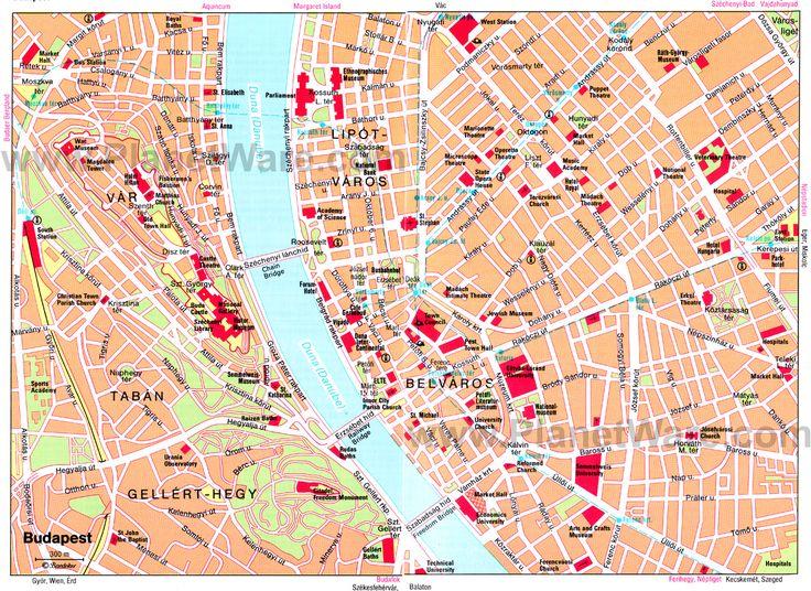 Carte de Budapest : Plan touristique Budapest