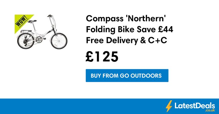Compass 'Northern' Folding Bike Save £44 Free Delivery & C+C, £125 at Go Outdoors