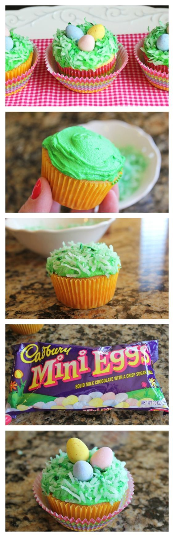 """Cadbury Egg Cupcake Nests Jamie Cooks It Up! Perfect for all you """"cadburrycrackaddicts"""" out there. Happy Easter!"""
