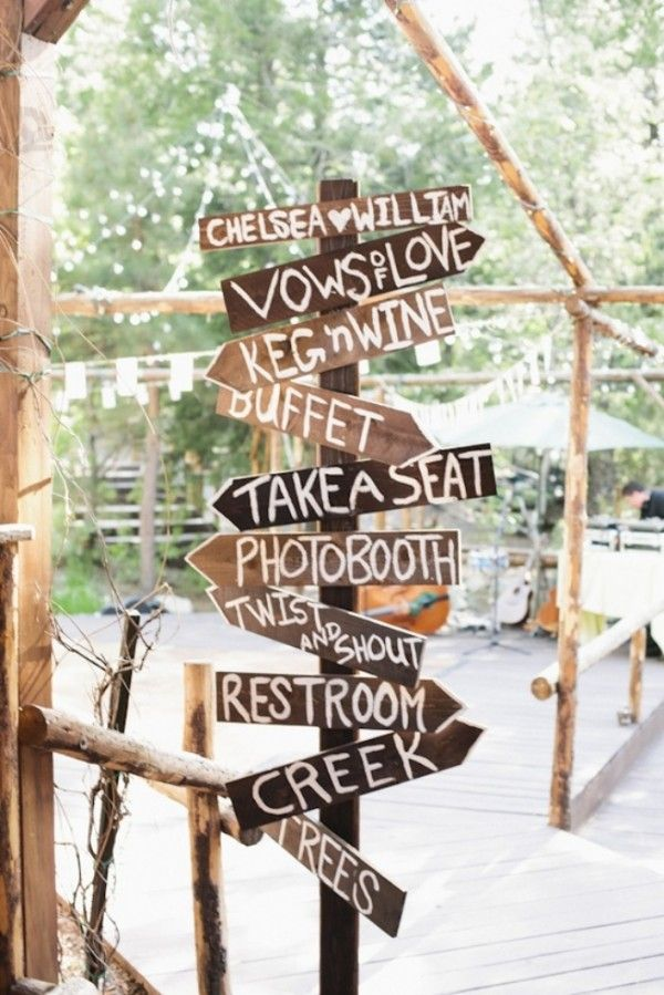 Vineyard Wedding Decorations:  This may be a tad cheesy but these signs are EVERYWHERE in wine country and are a cute decoration.