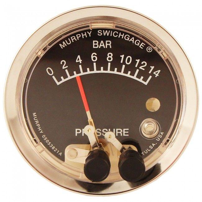 El manometro presostato Murphy acciona y para bombas de agua según la presión de la red. Diferentes modelos que abarcan presiones de 0 a 20 Bar.