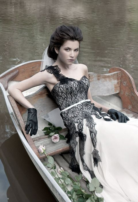 I Heart Wedding Dress: Black Lace Dress by Mariana Hardwick (2011)