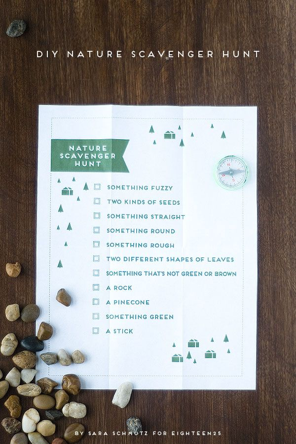 Fun Nature Scavenger Hunt - free printable