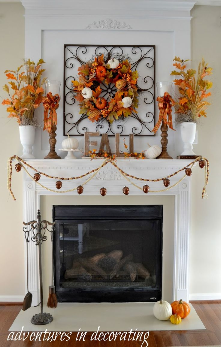 Thanksgiving decor mantle - Adventures In Decorating Kicking Off Fall With Our 2015 Fall Mantel