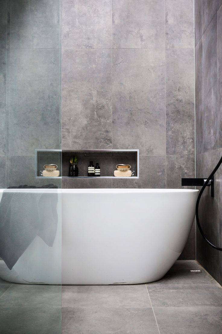 RenoGuide Grey Bathroom Tiles