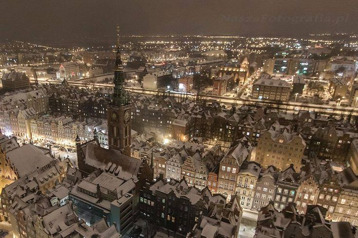 Stunning view from st. Mary's Church tower, Gdansk