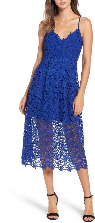 3f3e5f050c1f ASTR the Label Lace Midi Dress   The Blues - Teal, Aqua & Turquoise ...
