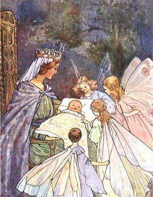 Sleeping Beauty and the fairies (artist?)
