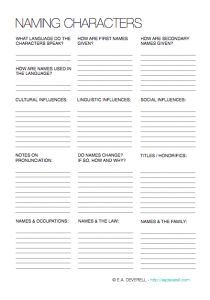 Having trouble deciding on a character name? Try this 2-page writing worksheet!