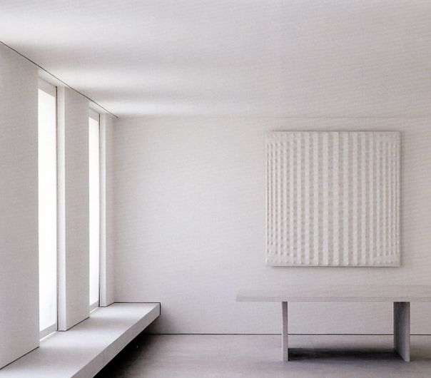 Interior view of the Girombelli Apartment in Milan by Claudio Silvestrin.