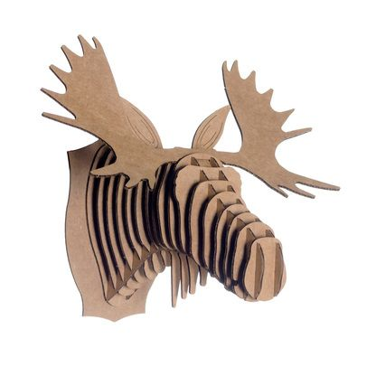 1000 images about cardboard crafts on pinterest diy cardboard cardboard playhouse and - Cardboard moosehead ...