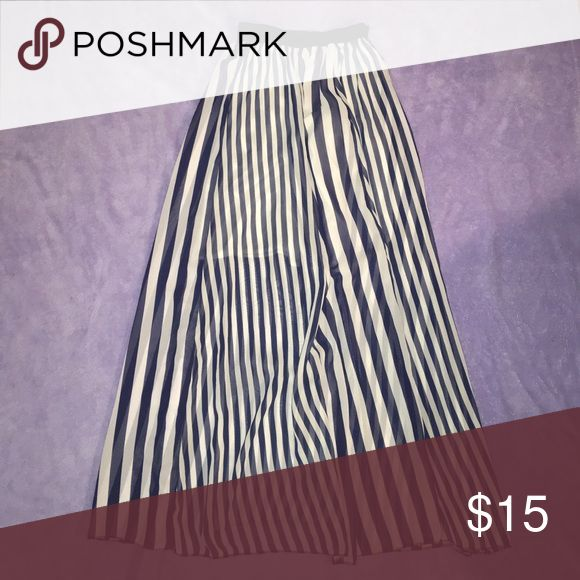 Striped Maxi Skirt Blue and white Maxi skirt Skirts Maxi