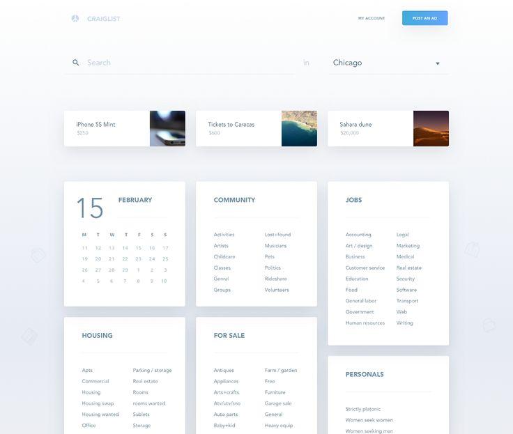 Redesign concepts for popular websites #3