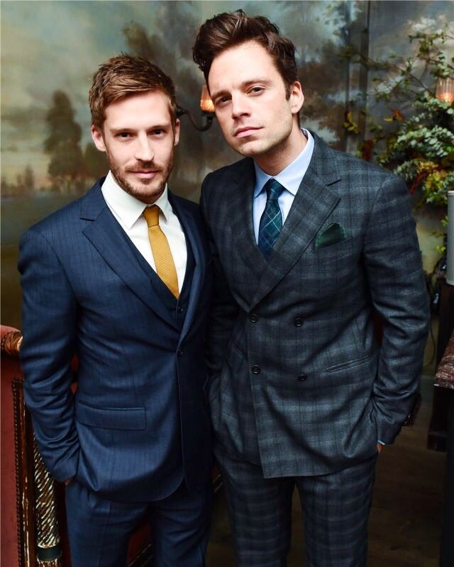 Sebastian Stan and Will Malnati photographed by Billy Farrell at Esquire's Style Mavericks of The Year on November 30, 2016 in New York City.