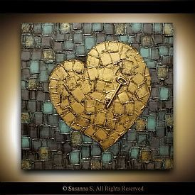 heart paintings - Buscar con Google