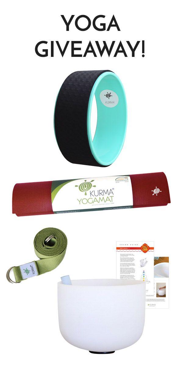 WIN a KurmaPro Yoga Mat,  Kurma Yoga Wheel, Root Chakra Crystal Singing Bowl & Mat Carry Sling, a $300 Value... Amazing Giveaway!! Winner announced June 29, Enter Now!